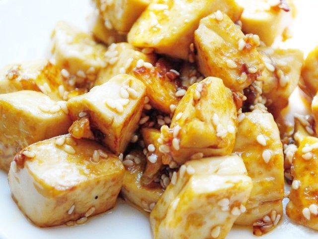 тофу смажений